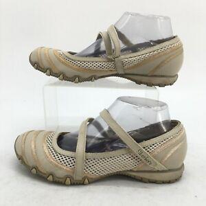Skechers Proposal Mary Jane Womens 8 Natural Hook & Loop Comfort Shoes 21120