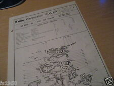 Fiat 124 Special, Solex 32 EIES - 31 Carburetor plan