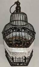 "metal birdcage - home decor - bird cage - rustic - nest - 23"""