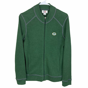 Green Bay Packers 1/4 Zip Pullover Small Cutter & Buck Green Cotton Sweater