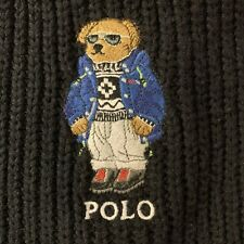 Polo Ralph Lauren Collectable Black Teddy Bear Scarf