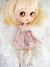 <M-Style>azone/licca/blythe size Doll Handmade Distressed style dress pink