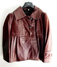 SportMax-CODE Leather Poplin Jacket XS/ SZ0