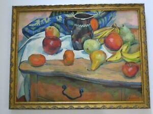 FREDERICK BUCHHOLZ STILL LIFE  ANTIQUE 1920'S NEW YORK IMPRESSIONIST MODERNIST