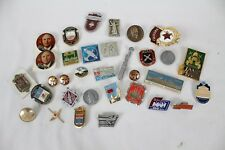 Huge Vintage Soviet Union Russia Cold War Pin Collectable Lot Gorbatschow Plane