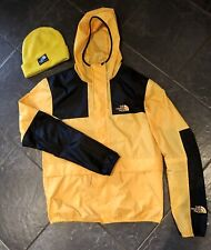 The North Face Yellow 1985 Windbreaker Mountain Jacket. Men's Medium + Beanie