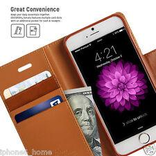 iPhone 6/6s & 6/6s Plus Genuine MERCURY Goospery Brown Flip Case Wallet Cover