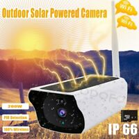 1080P Solar Security Camera Wireless WiFi Outdoor Powered IP Camera Night Vision