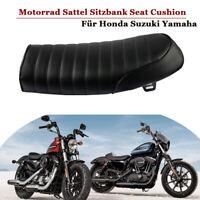 Schwarz Motorrad Sattel Sitzbank Seat Cushion Cafe Racer Für Honda Suzuki Yamaha