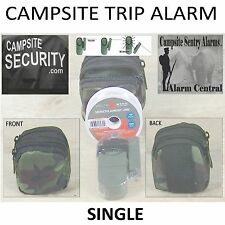 (1) Camp Military Style Trip Alarms w/Camo double zipper bag-100yds trip line