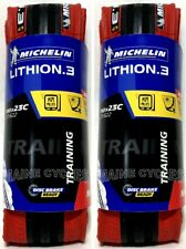 Michelin Lithion 3  700 x 23  2019 red / black  (2 tires)