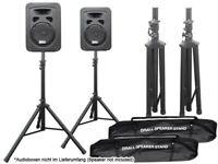 2 x Audio Stative mit 2 x Transport Taschen Ständer f. Loudspeaker Lautsprecher