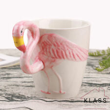 3D Flamingo Ceramic Mug Cartoon Coffee Water Milk Tea Cup Home Office Xmas Gift