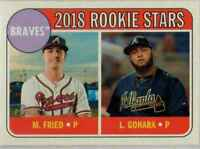 2018 Topps Heritage Luiz Gohara / Max Fried RC #81 Atlanta Braves
