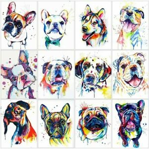 French Bulldog Watercolor 5D Full Diamond Painting US DIY Art Cross Stitch Kits