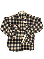Vintage New Woolrich 60's Wool Nylon Buffalo Plaid Flannel Shirt Mens Medium
