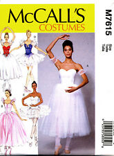 MCCALL'S SEWING PATTERN 7615 MISSES SZ 14-22 ADULT BALLET DANCE COSTUMES, TUTUS