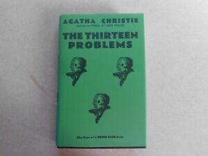 CRIME CLUB AGATHA CHRISTIE MODERN FACSIMILIE BOOK HB ~ THE THIRTEEN PROBLEMS