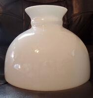 """10"""" Fitter Milk Glass Student Kerosene Oil Banquet White Table Desk Lamp Shade"""