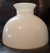 "10"" Fitter Milk Glass Student Kerosene Oil Banquet White Table Desk Lamp Shade"