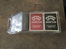 Espn 4-Deck Acrylic Dealer Shoe with 2 Decks of Espn Poker Club Cards K