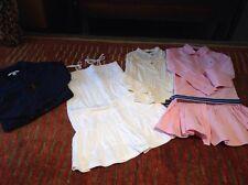 EUC Lot Girls 6 X Ralph Lauren Pink + White Dress + Lace Top + DKNY Moto Jacket