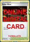 4X Galar Mine 160/192 Rebel Clash Pokemon TCG Online Digital Card