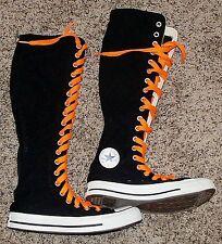 CONVERSE CT XX-Hi black white orange laces goth Halloween sneaker shoe boot 4 6