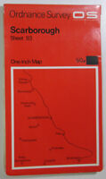 Old Vintage 1969 OS Ordnance Survey Seventh Series One-Inch Map 93 Scarborough