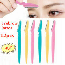 12PCS Women Eyebrow Razor Trimmer Blade Shaper Shaver Face Lip Hair Remover Set