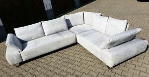Musterring Sofagarnitur, Couch MR 680 - Granit 37, hellgrau