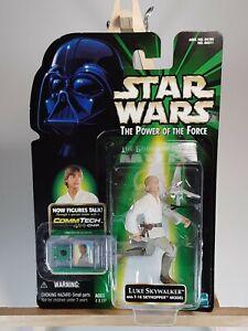 Star Wars Luke Skywalker w T-16 Skyhopper - The Power of the Force with Commtech