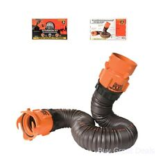 Camco RhinoFLEX 5ft Sewer Hose Extension Kit with Swivel Fitting RV Trailer