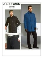 V9041 Sewing Pattern Men's Lined Double-Breasted Jacket Back Yoke Pockets Pants