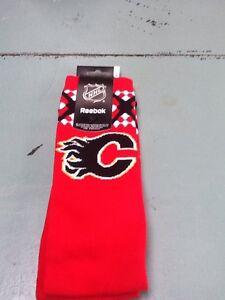 Calgary Flames, Socks, NHL Fan Gear, Adult, Women's, Reebok