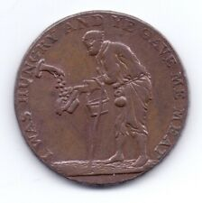 1795 Gloucestershire Badminton Copper Half Penny Token 18th Century