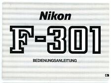 Nikon Bedienungsanleitung NIKON F-301 Kamera User Manual Anleitung (Y677