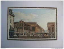 reproduction gravure vue du marché au vieux linge Paris 1754 - 1826