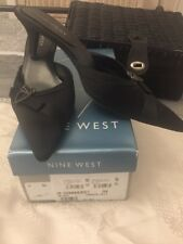 Nine West Black Little Heel Statin Shoe Size 7