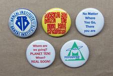 "Buckaroo Banzai 5 Button Set Yoyodyne Cavaliers Cult SF Movie Quotes 1.25"" NEW"