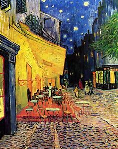 The Cafe Terrace on the Place du Forum Arles at Night Van Gogh Giclee Repro