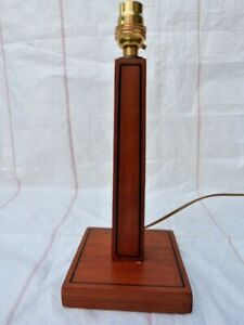 VINTAGE ART DECO INLAID WOODEN TABLE LAMP.