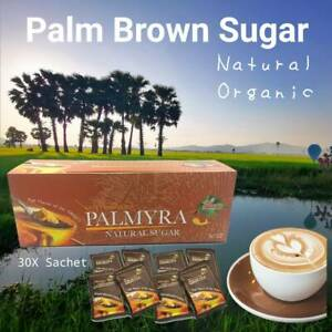 Organic BROWN PALM Sugar powder natural sweet Palmyra Tree Aroma Coffee 30 Bags