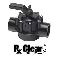 "Rx Clear 1-1/2"" or 2"" In-Ground Swimming Pool Diverter Valve (Choose Way)"