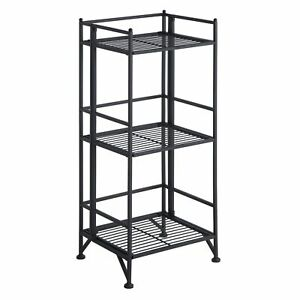 Convenience Concepts Xtra Storage 3 Tier Folding Metal Shelf