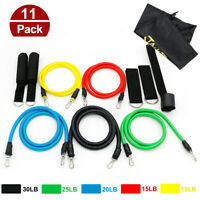 11pcs Resistance Excercise Bands Stretch Yoga Crossfit Fitness Gym Training Tube