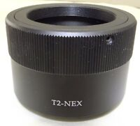 T2 to Sony E Adapter Ring Lens T-Mount NEX 5R ILCE α5100 α6300 α6400 cameras
