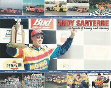 "2000 ANDY SANTERRE ""MONRO MUFFLER & BRAKE"" #47 NASCAR BUSCH SERIES P/B POSTCARD"