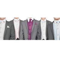 Boys Suits Boys Grey Suit Wedding PageBoy Formal Party 5pc Suit 5 Colours