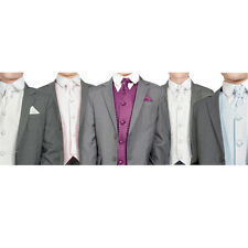 Boys Suits Boys Grey Suit Wedding PageBoy Formal Party 5pc Suit 5 Colours